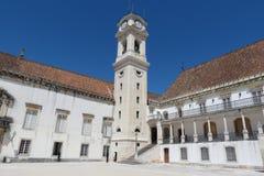 Coimbra uniwersytet Zdjęcia Royalty Free