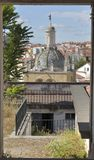 Coimbra through a window Royalty Free Stock Images