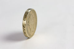 Coin. One Pound Coin on white Royalty Free Stock Photo