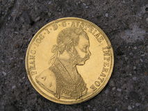 Coin. Gold coin is a part of big treasure Royalty Free Stock Images