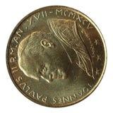 Coin. John Paul II pope coin Royalty Free Stock Photo