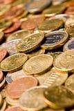 Coin. Pile of Euro money coins Stock Photography