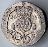 Coin. A 20 pence coin close up Royalty Free Stock Image