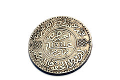 Coin. A very old Moroccan coin Stock Photography