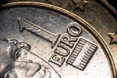 Coin. Euro Coin Macro Stock Images
