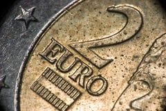 Coin. Euro Coin Macro Royalty Free Stock Photo