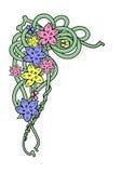 Coin abstrait de fleurs Illustration de Vecteur