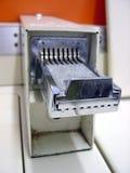 Coin Acceptor. Laundromat coin acceptor stock image
