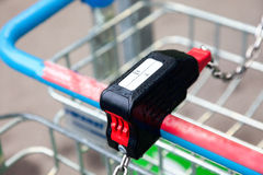 Coin acceptor on the cart Stock Photography