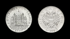 Coin of Austria with eagle Stock Photo