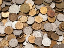 Coin backgrounds. Currency coin backgrounds - finance wealth savings stock photos