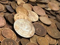 Coin backgrounds Stock Photography