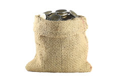 Coin in the bag. Stock Image