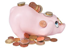 Coin bank and coins Stock Photography