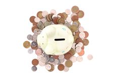 Coin bank and czech money Royalty Free Stock Photography
