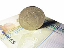 Coin and banknote Seychelles Royalty Free Stock Photo