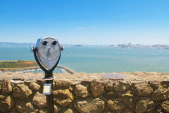 Coin binocular Stock Image