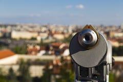 Coin binoculars Royalty Free Stock Image