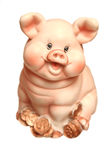 Coin box a pig on a white background Stock Photography