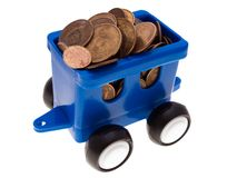 Coin car Royalty Free Stock Photos