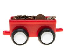 Coin car Stock Image