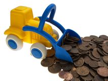 Coin car Stock Photo