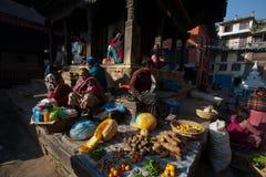 Coin carré de palais de Patan Image libre de droits