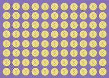 Coin cartoon background vector. EPS10 Royalty Free Stock Photos