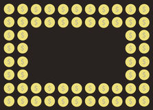 Coin cartoon background vector. EPS10 Royalty Free Stock Photography