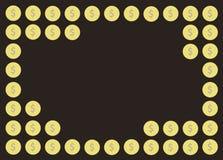 Coin cartoon background vector. EPS10 Stock Photography