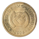 Coin 20 centavos Mozambique. Isolated on white background Stock Image