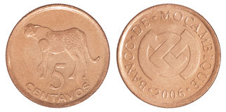 Coin 5 centavos Stock Images