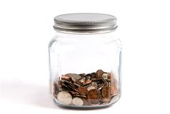 Coin Change Jar Royalty Free Stock Photos