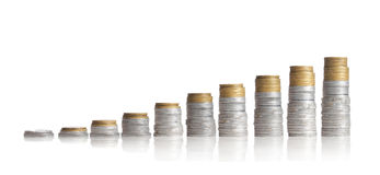 Coin chart stock photography