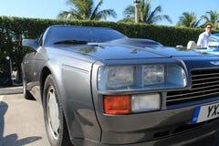 Coin classique d'avant de voiture de sport de 80s Aston Martin photo stock