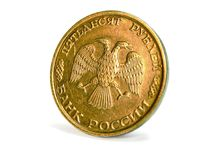 Coin closeup Royalty Free Stock Photos
