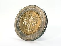 Coin closeup. Poland coin closeup view Royalty Free Stock Images