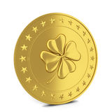 Coin with clover Stock Images