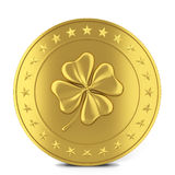 Coin with clover Stock Photos