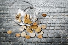 Coin. Cheap jar currency savings penny investment royalty free stock images