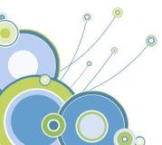 Coin coloré des cercles   illustration libre de droits
