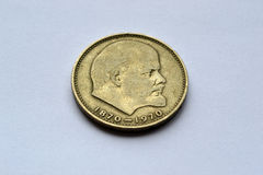 Coin. Commemorative coin in honor of the 100th anniversary of VI Lenin Royalty Free Stock Photos