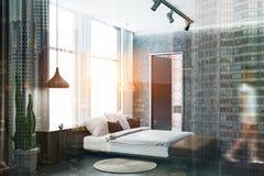 Coin Concret Et Blanc De Chambre A Coucher Salle Bains Femme Image Stock