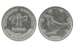 Coin of Croatia. Stock Photos