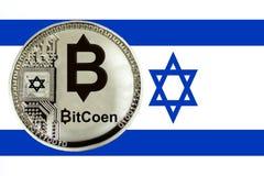 Coin cryptocurrency of Bitcoen stock photos