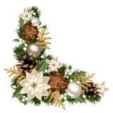 Coin décoratif de Noël Illustration de vecteur Images stock