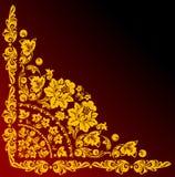 Coin d'or sur le rouge et le noir illustration stock