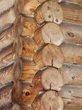 Coin d'un bâtiment boisé Photos stock