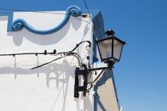 Coin d'une maison avec la lanterne, Portugal Image libre de droits