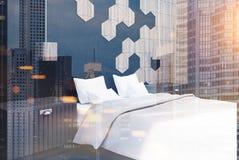 Coin de chambre à coucher d'hexagone modifié la tonalité Photo libre de droits